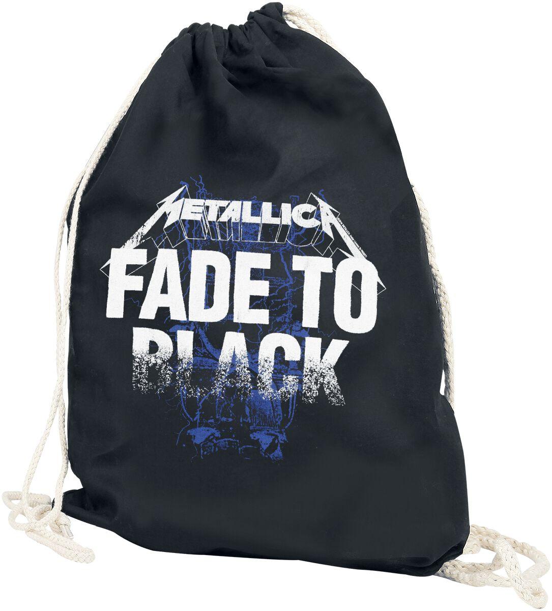 Sporttaschen für Frauen - Metallica Fade to Black Turnbeutel schwarz  - Onlineshop EMP