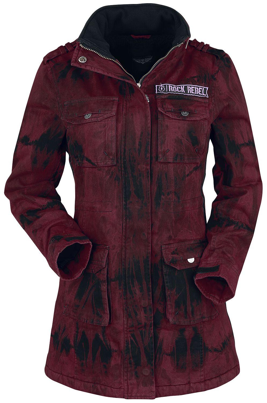 Rock Rebel by EMP Ladies Field Jacket Winter Jacket red