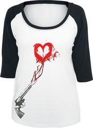 Ladies Pistole Heart Raglan Tee