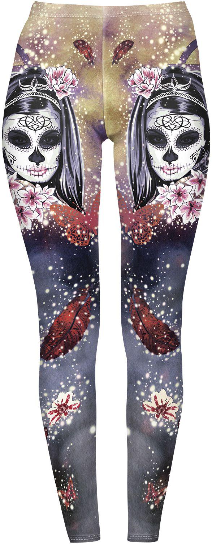 Hosen - Kuku Bird Mystric Candy Witch Leggings multicolor  - Onlineshop EMP