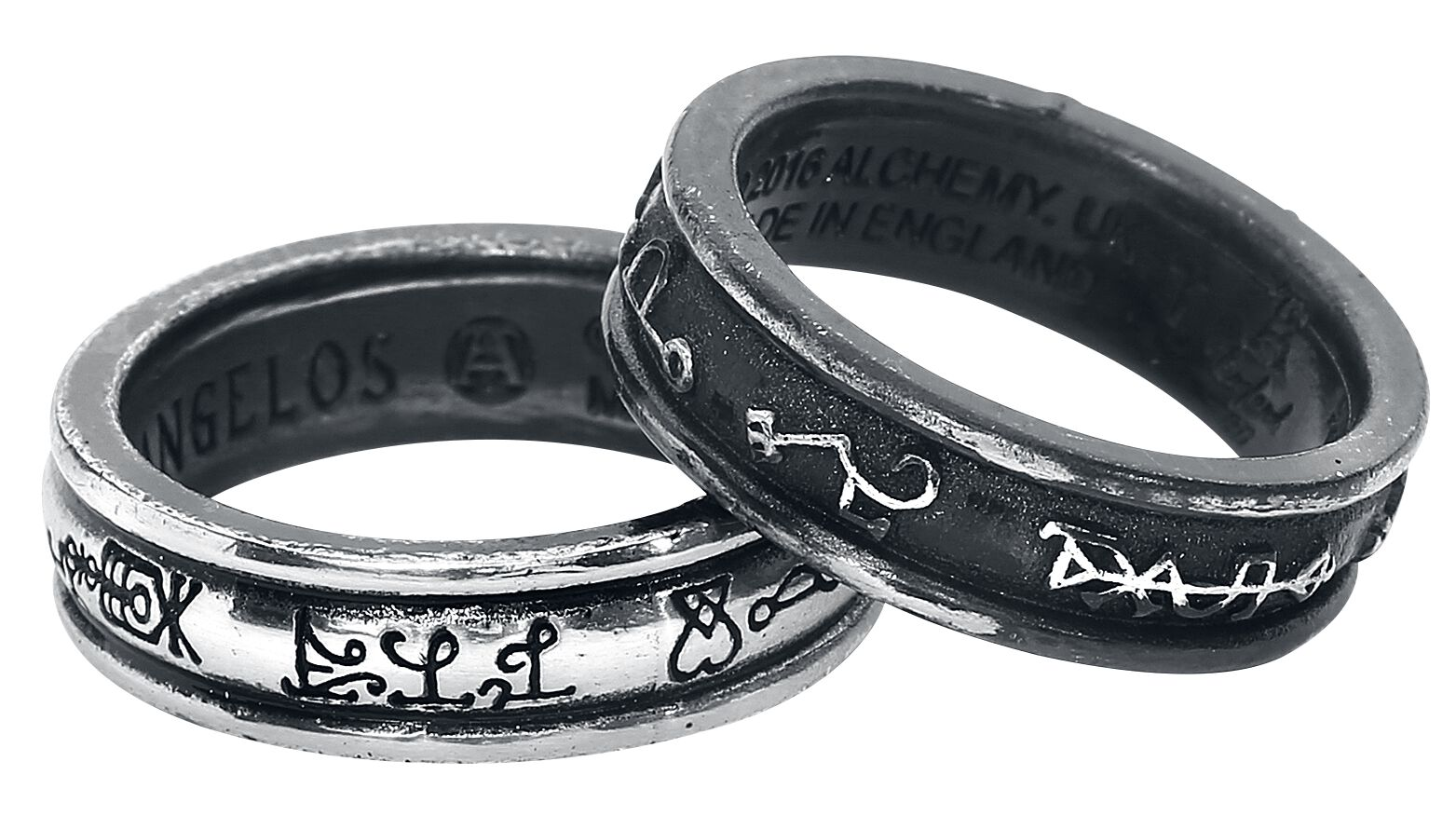Image of Alchemy Gothic Demons and Angels Ring Standard