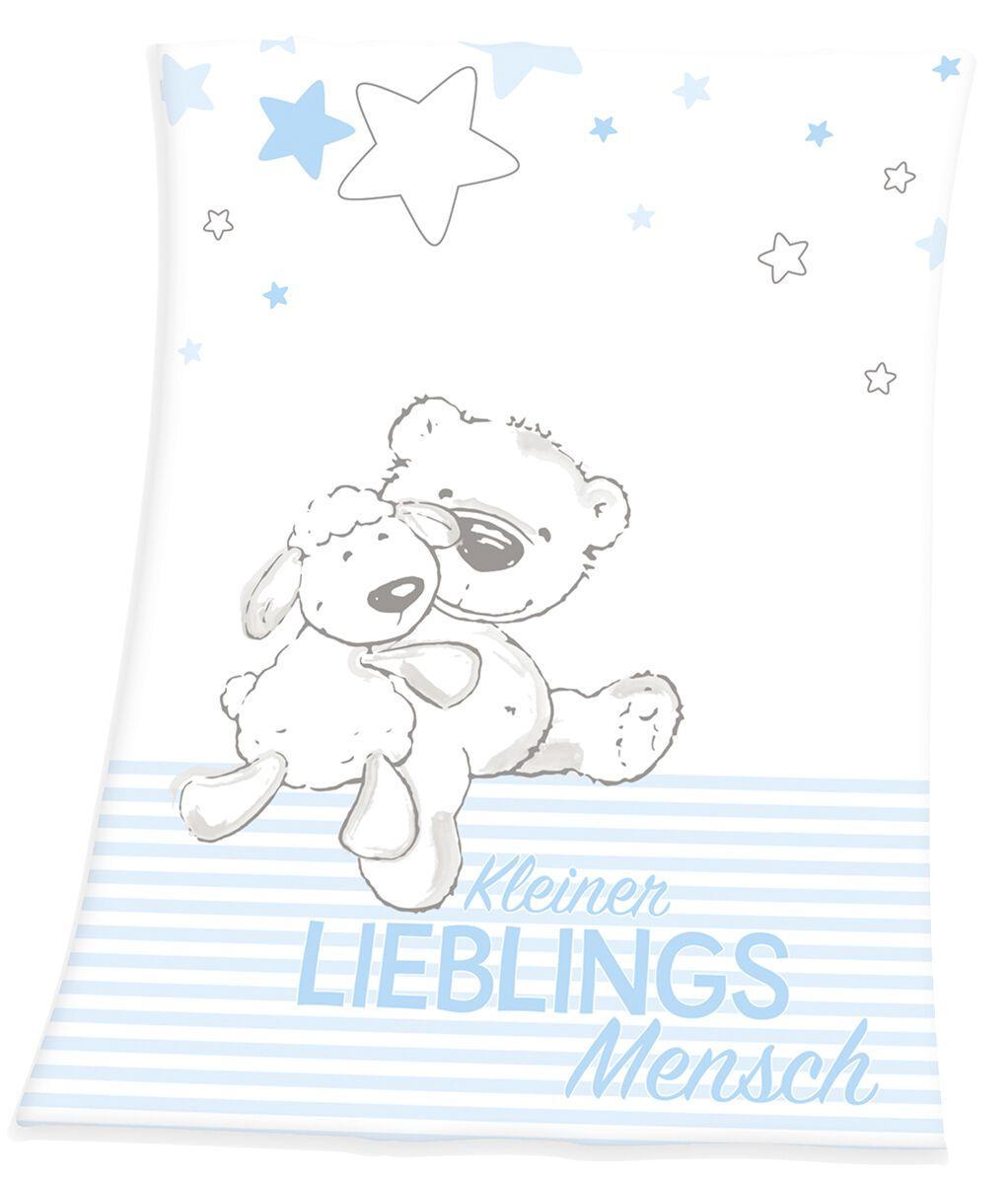 Image of Kleiner Lieblingsmensch Decke Decke weiß/hellblau