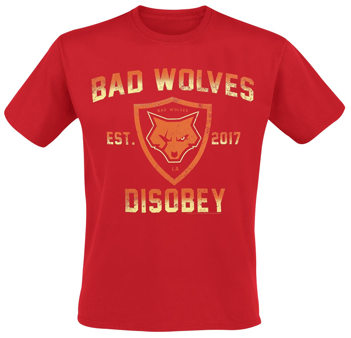 Image of Bad Wolves Disobey T-Shirt rot