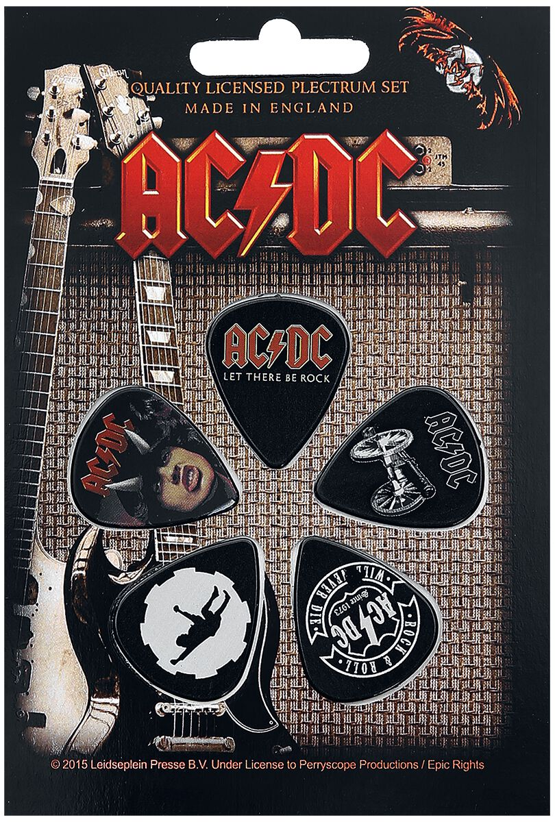 AC/DC Highway / For Those / Let There  Plektren-Set  multicolor