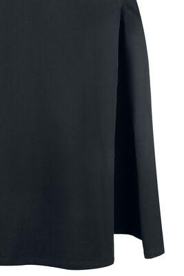 Langes Kleid mit Beinschlitz Gothicana