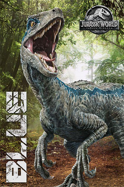 Jurassic World Fallen Kingdom Blue Jurassic Park Poster Emp