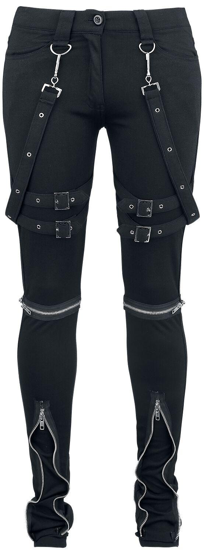 Hosen für Frauen - Gothicana by EMP Megan Stoffhose schwarz  - Onlineshop EMP