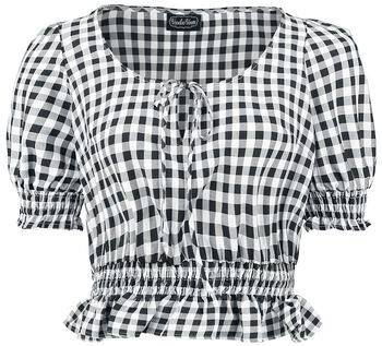 Sadie Black Gingham Top