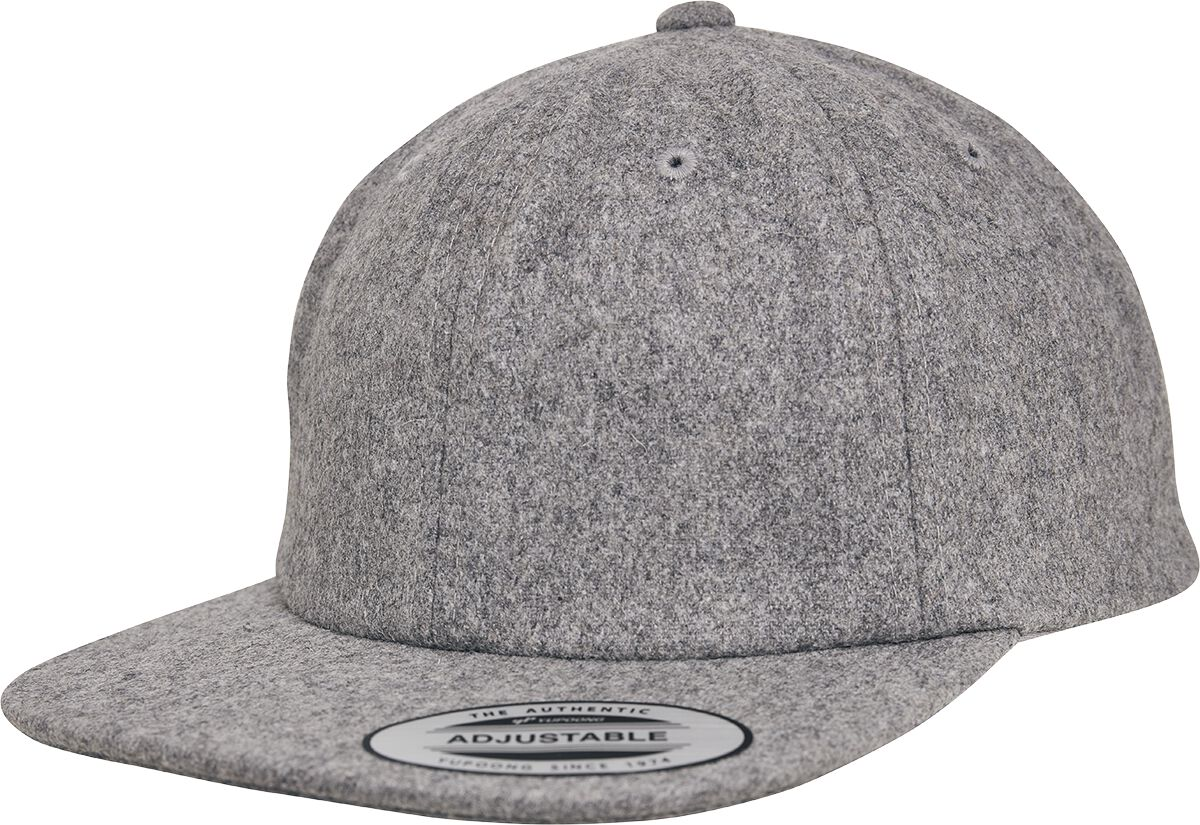 Image of Flexfit Melton Cap Flexcap grau meliert