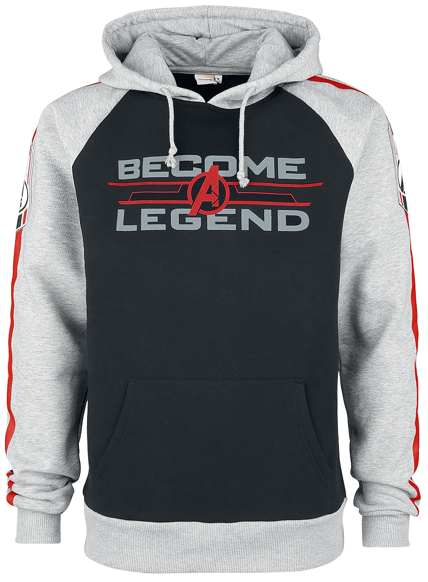 Avengers - Become A Legend - Hooded sweatshirt - black/mottled grey image