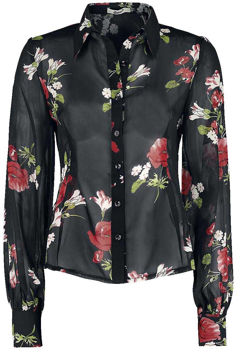 Belsira - Flower Vintage Blouse - Blouse - black image