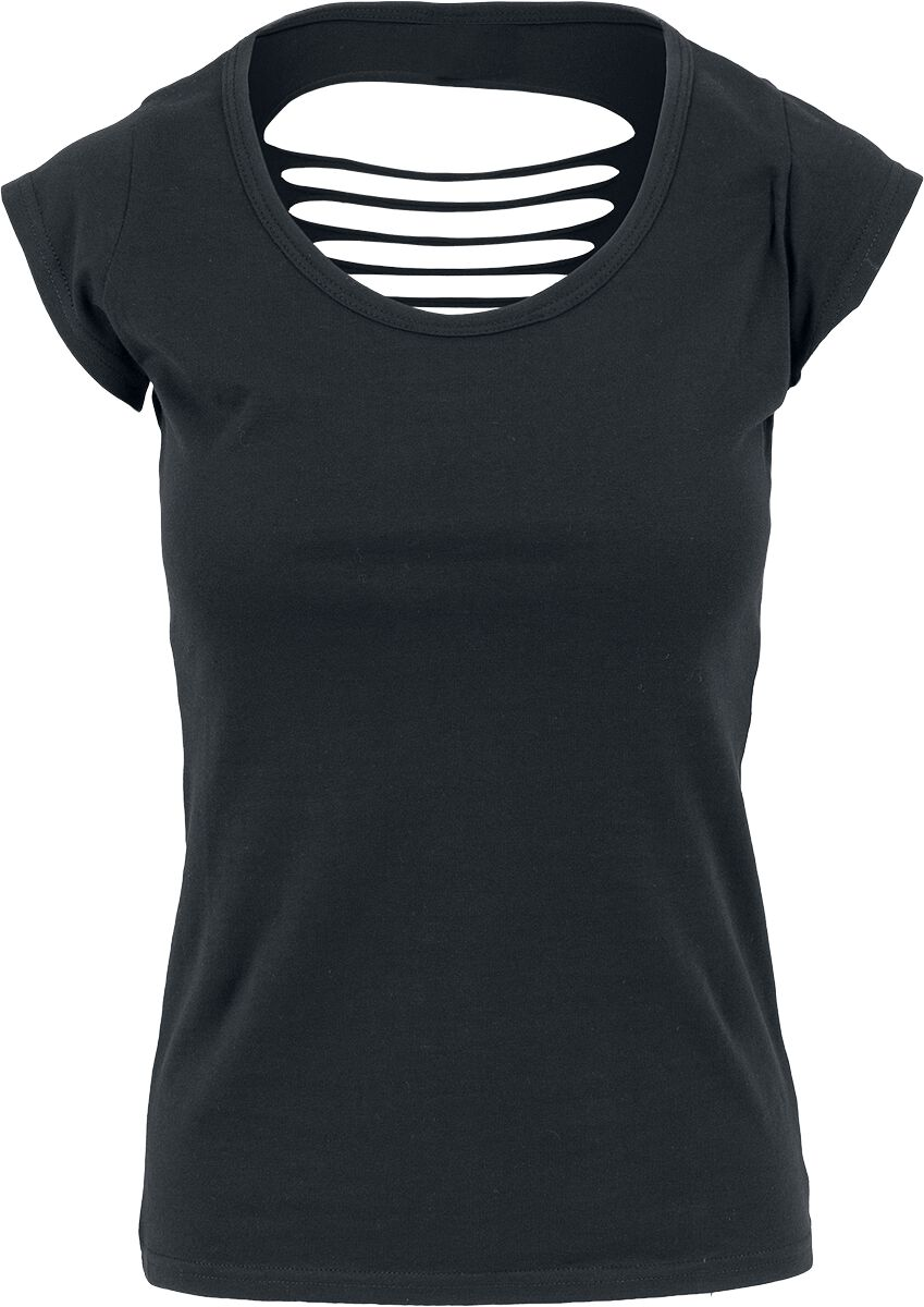 RED by EMP Ladies Cutted Back Tee T-Shirt schwarz EM1184_blk