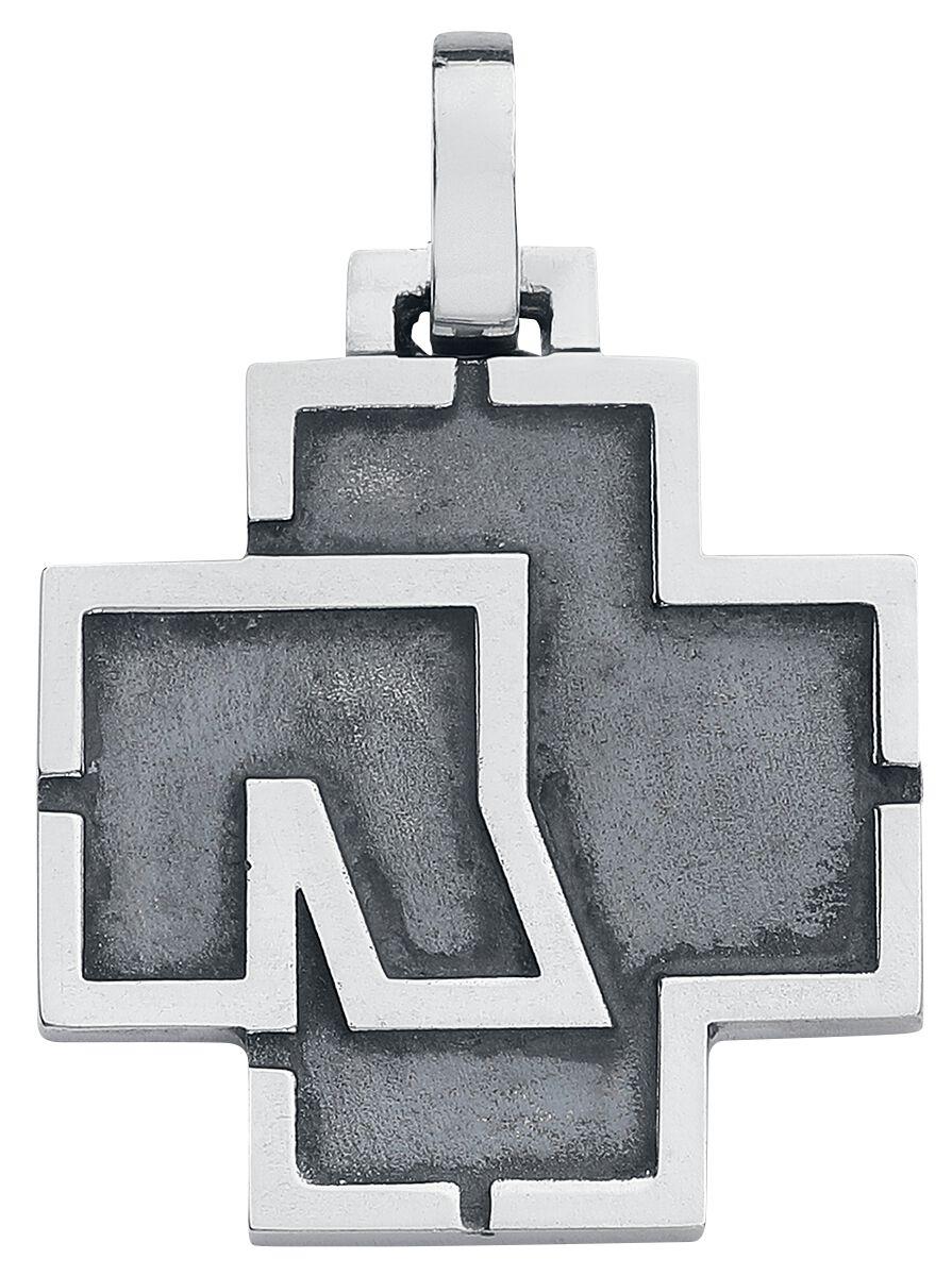 "Rammstein Rammstein Logo Anhänger silberfarben Rammstein Anhänger ""Logo"" (925-er Sterling Silber)"
