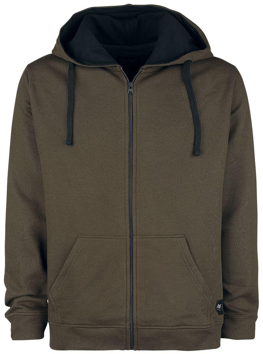 Black Premium by EMP Mask Of Sanity Hooded zip brown