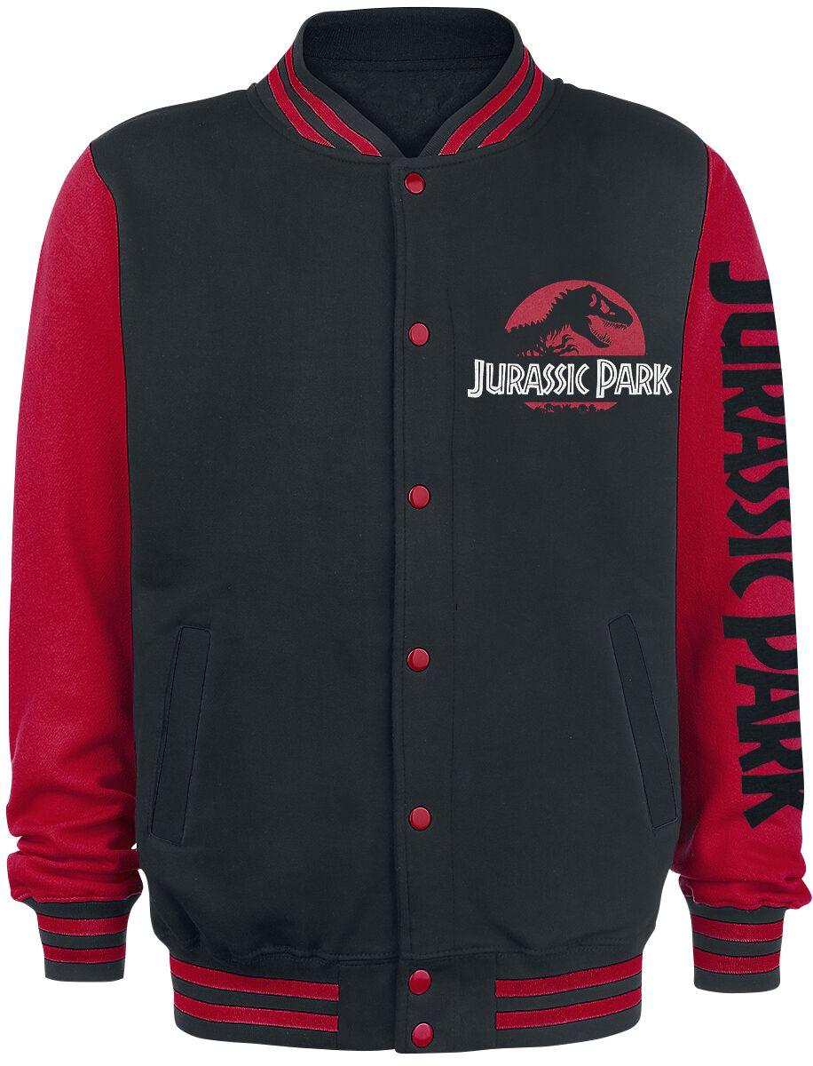 Image of Jurassic Park Classic Logo College-Jacke schwarz/rot