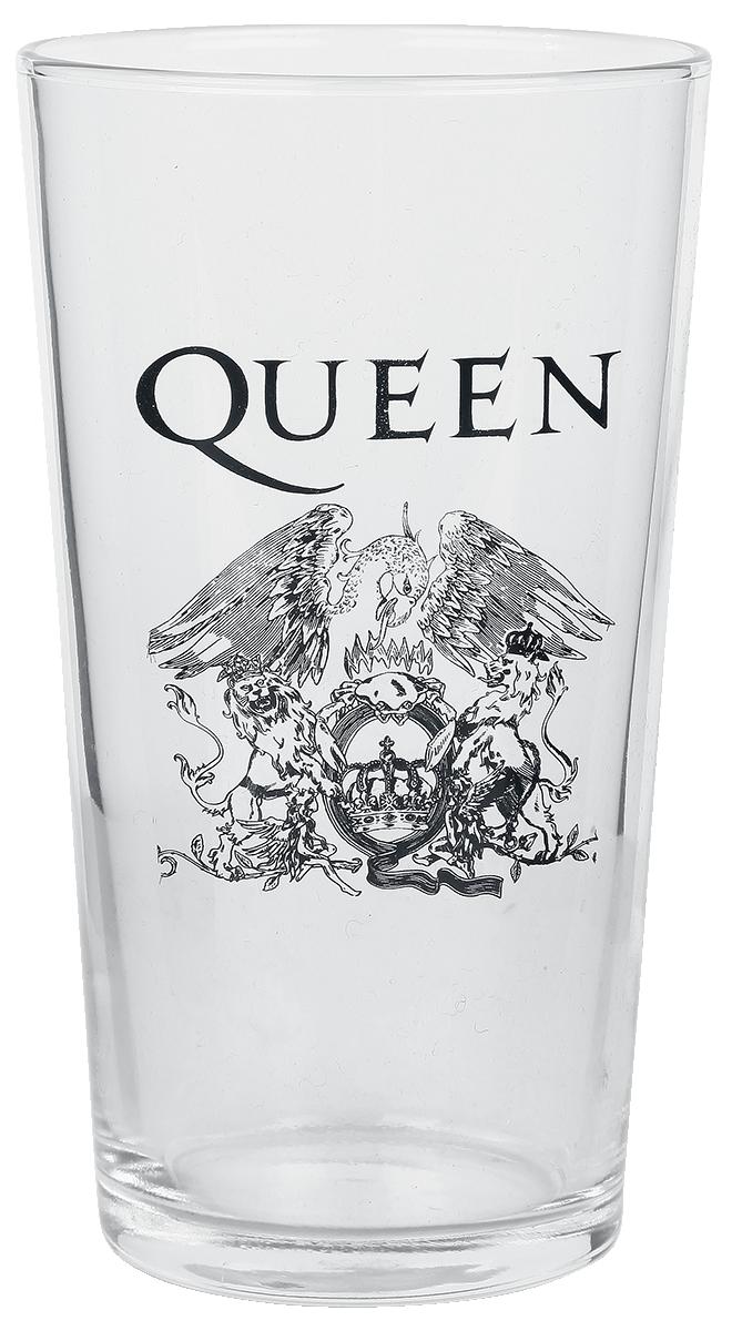 Queen - Crest - Pint-Glas - klar