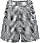 Button Skirt Black/White