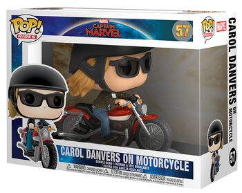 Carol Danvers on Motorcycle Pop Rides Vinyl Figure 57