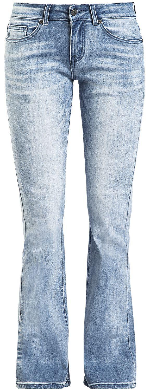 Black Premium by EMP Grace - Hellblaue Jeans mit Waschung und Schlag Jeans hellblau M404429