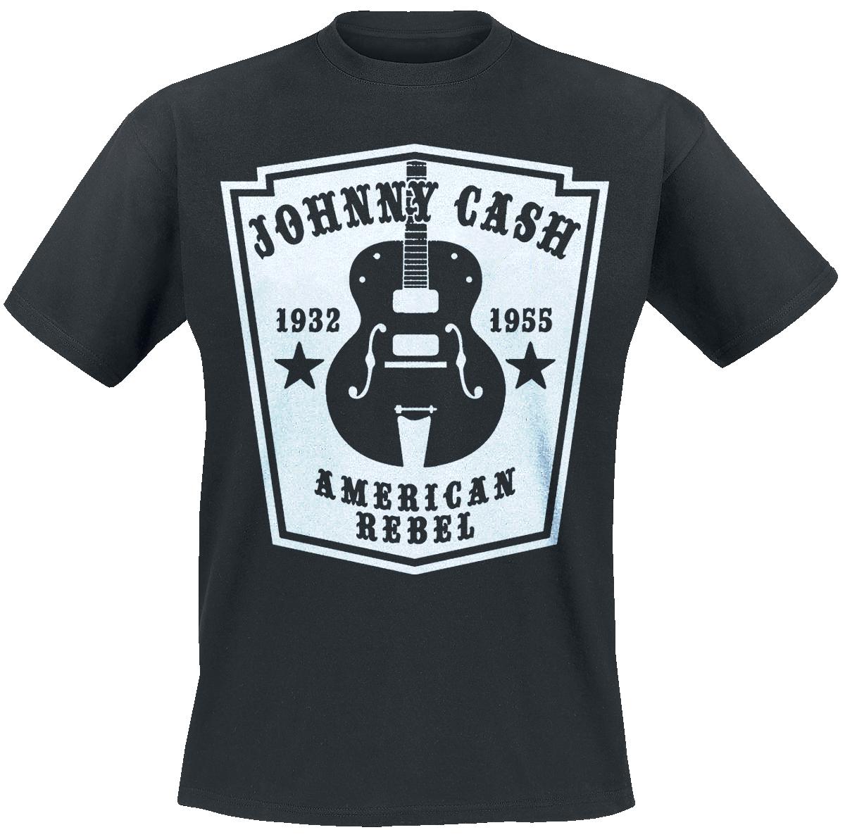 Johnny Cash - American Rebel - T-Shirt - black image