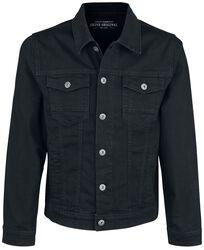 Clean Black Denim Jacket