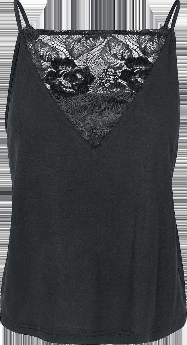 Urban Classics - Ladies Lace Triangle Top - Girls Top - black image