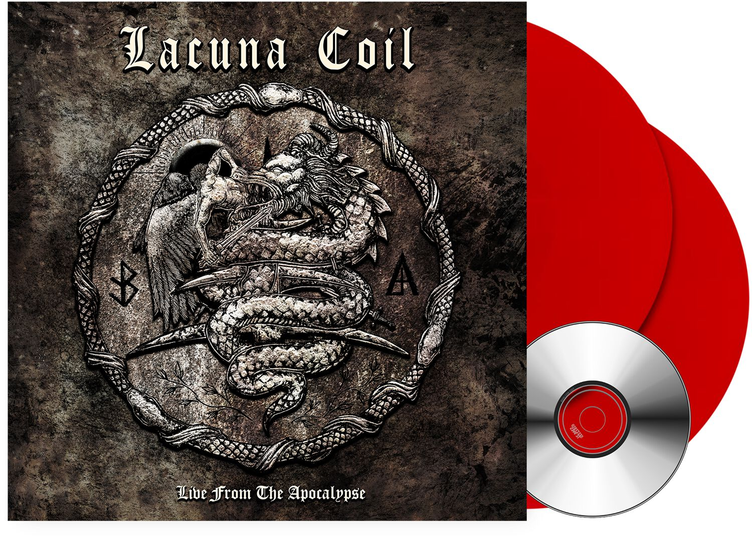 Image of Lacuna Coil Live from the apocalypse 2-LP & DVD farbig