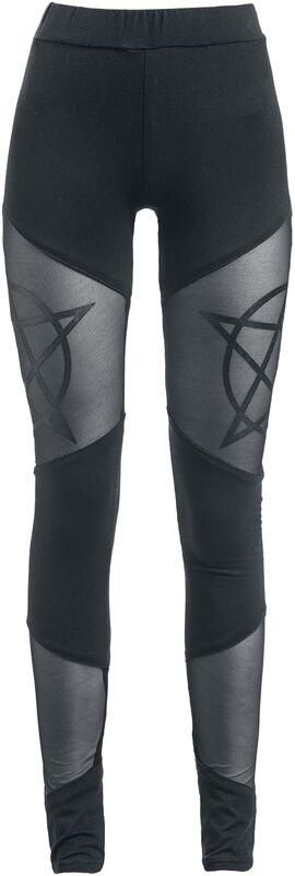 Leggings mit Pentagramm Gothicana
