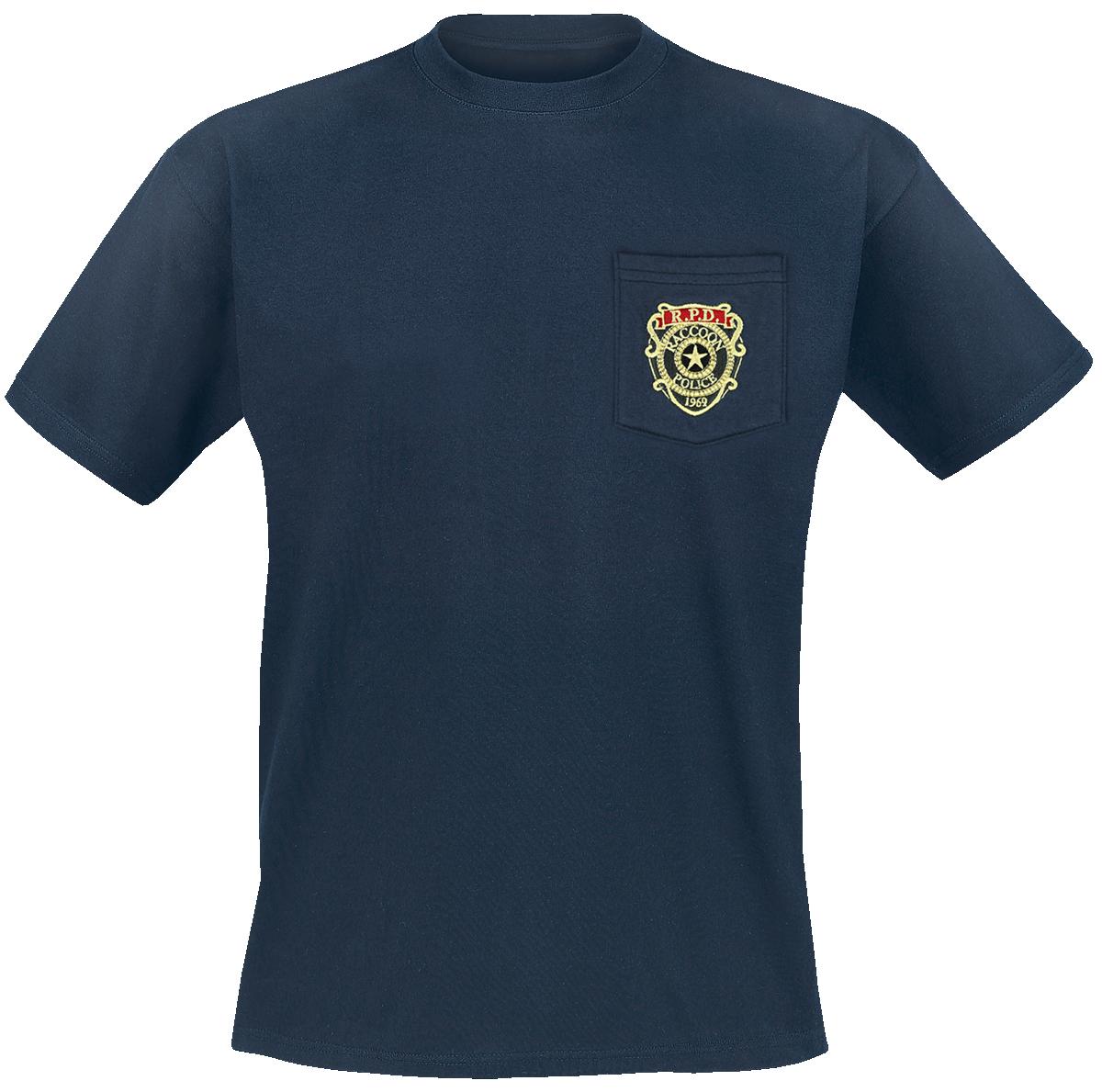 Resident Evil - Raccoon Police Department - Pocket - T-Shirt - blue image