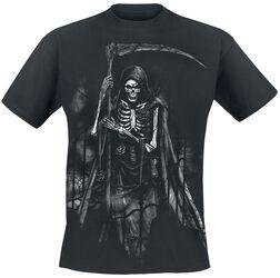 Schwarzes T-Shirt mit Sensemann