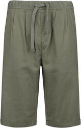 Khakifarbene Shorts aus leichtem Material