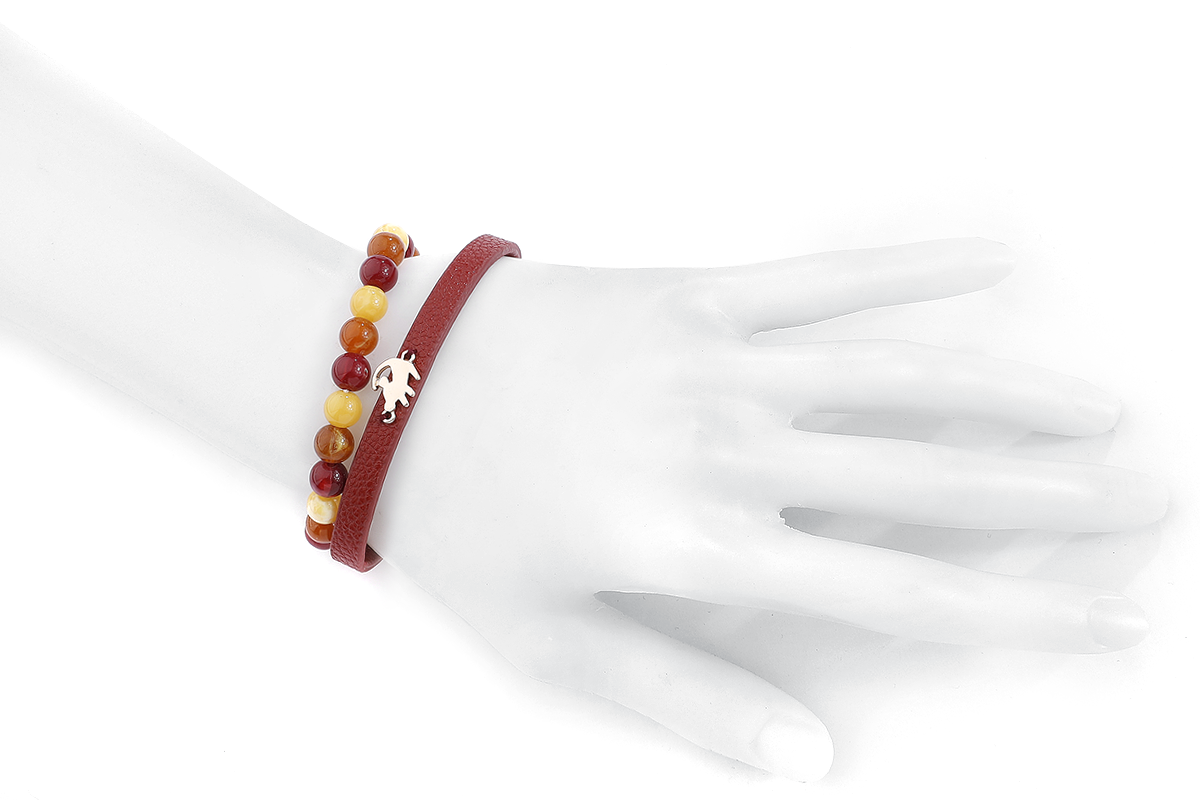 Image of Der König der Löwen Simba Armband-Set rot