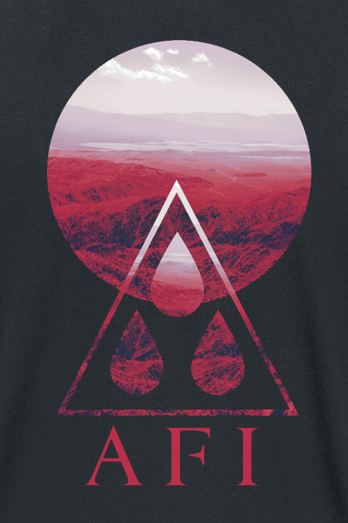 Image of Afi Triangle Cirlces T-Shirt schwarz