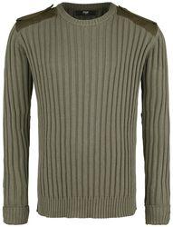 Breitripp Sweatshirt in oliv