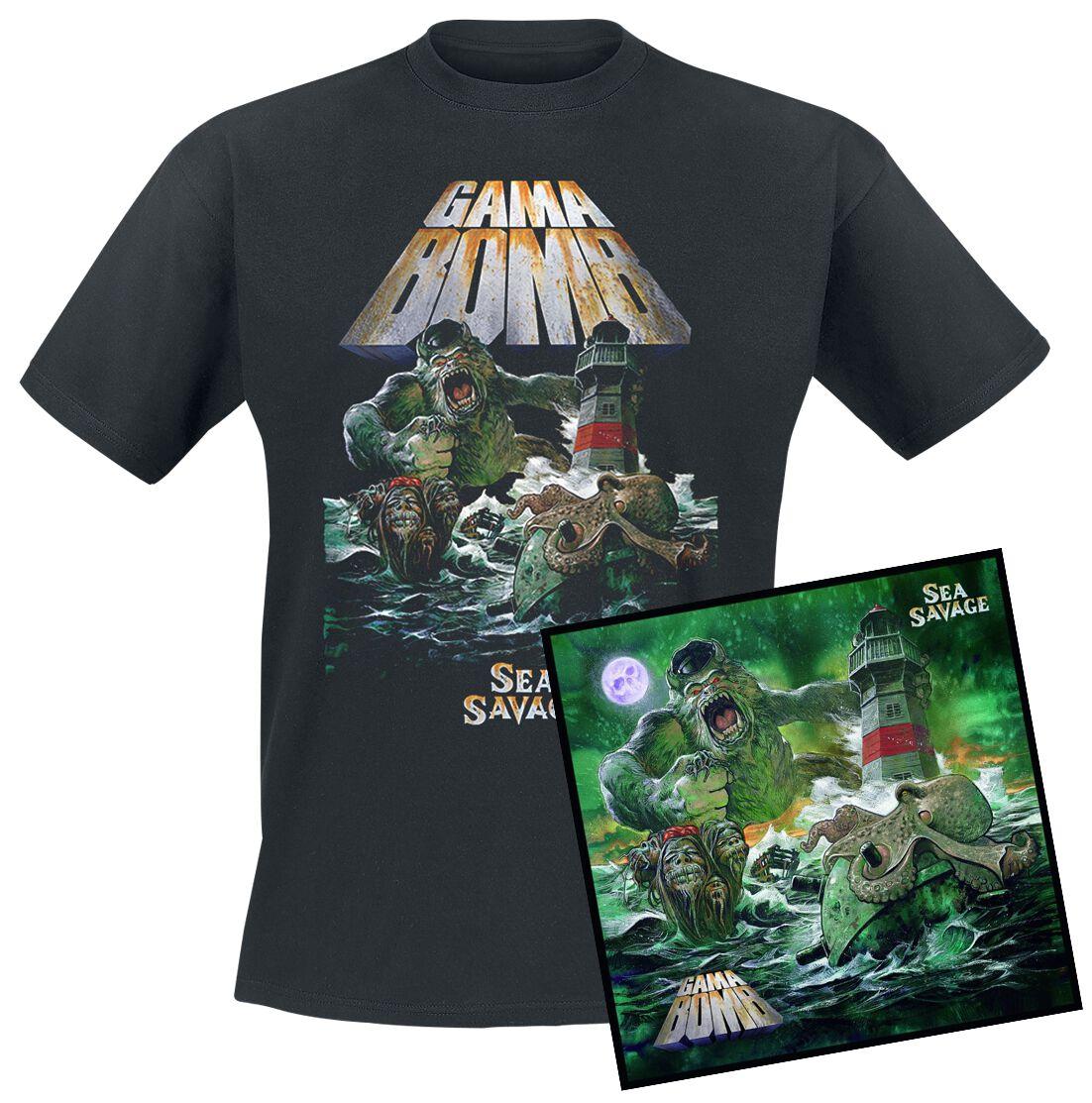 Image of Gama Bomb Sea savage CD & T-Shirt Standard