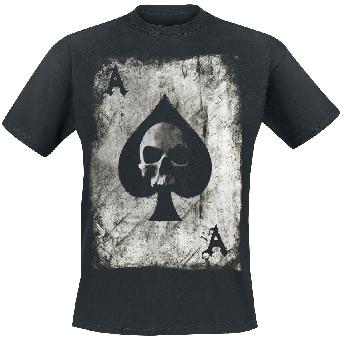 Pik Ace Skullcard T-Shirt schwarz BY083