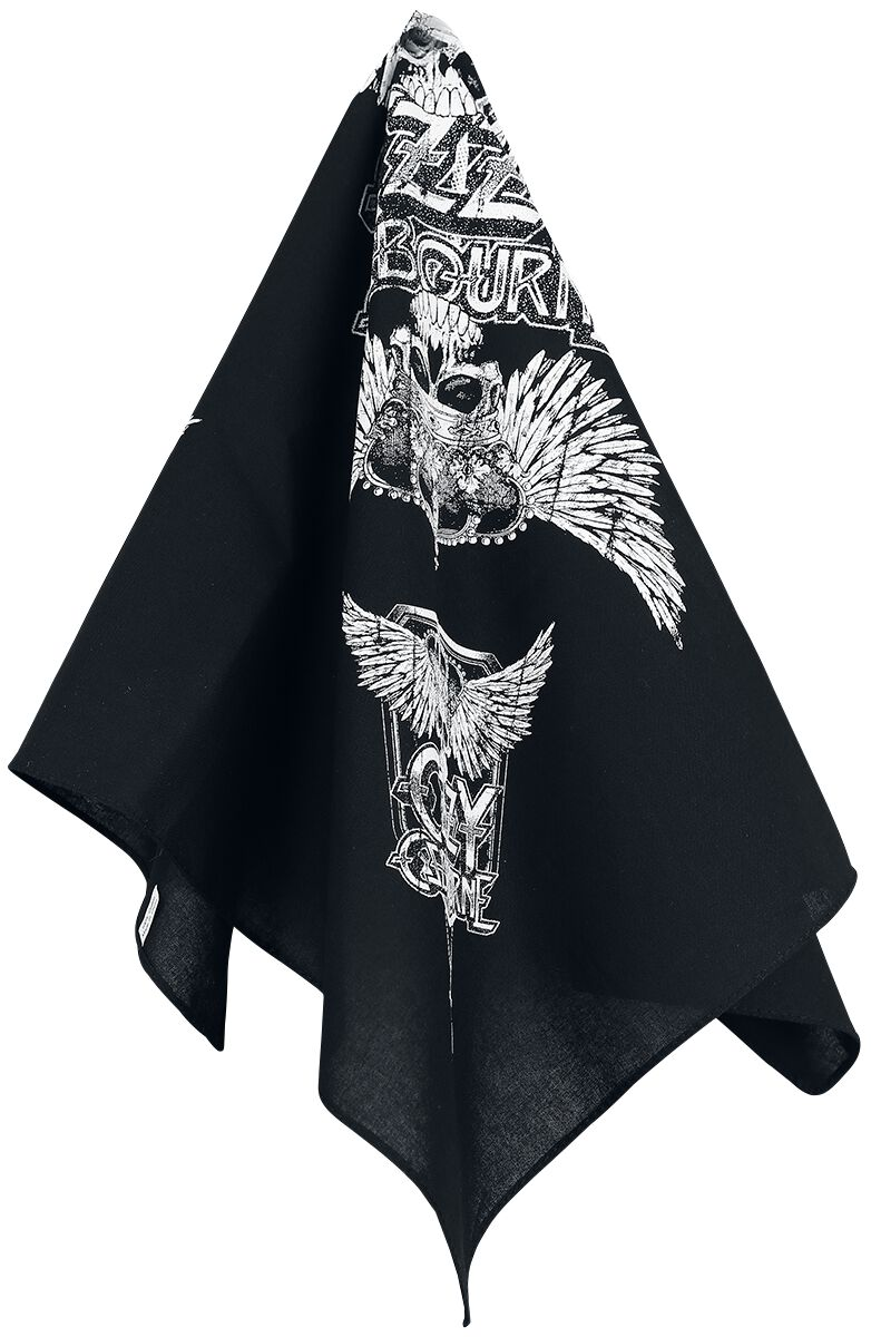 Image of Ozzy Osbourne Skull & Wings - Bandana Bandana multicolor