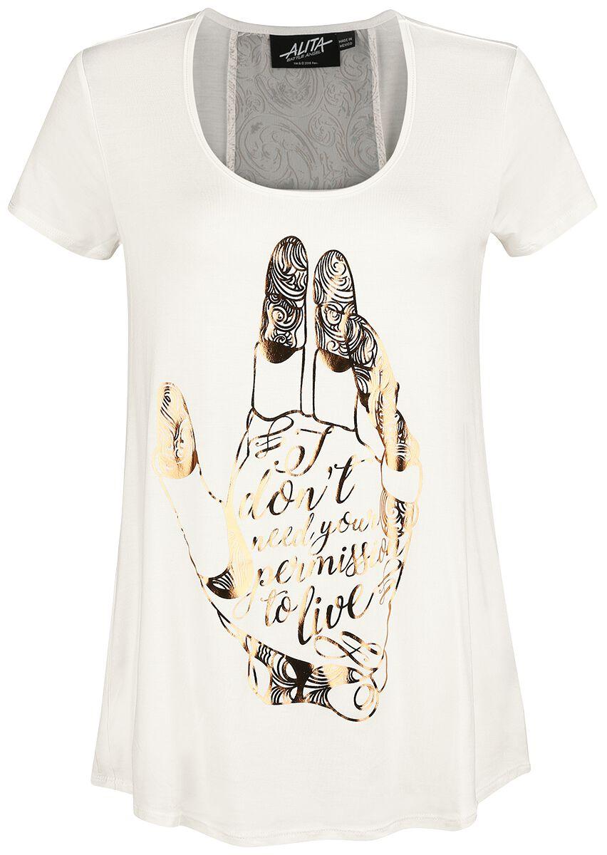 Image of Alita: Battle Angel Hand Girl-Shirt weiß