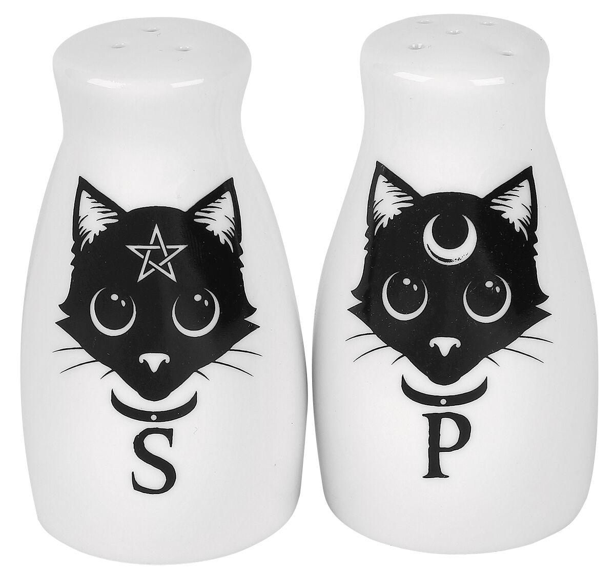 Alchemy England Salz- und Pfefferstreuer Salz- & Pfefferstreuer weiß schwarz MRSP3