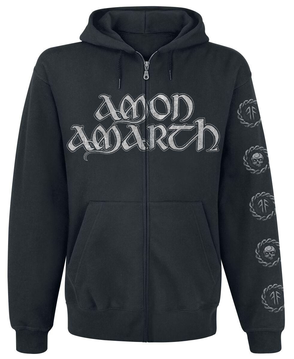 Amon Amarth Skullship  Kapuzenjacke  schwarz