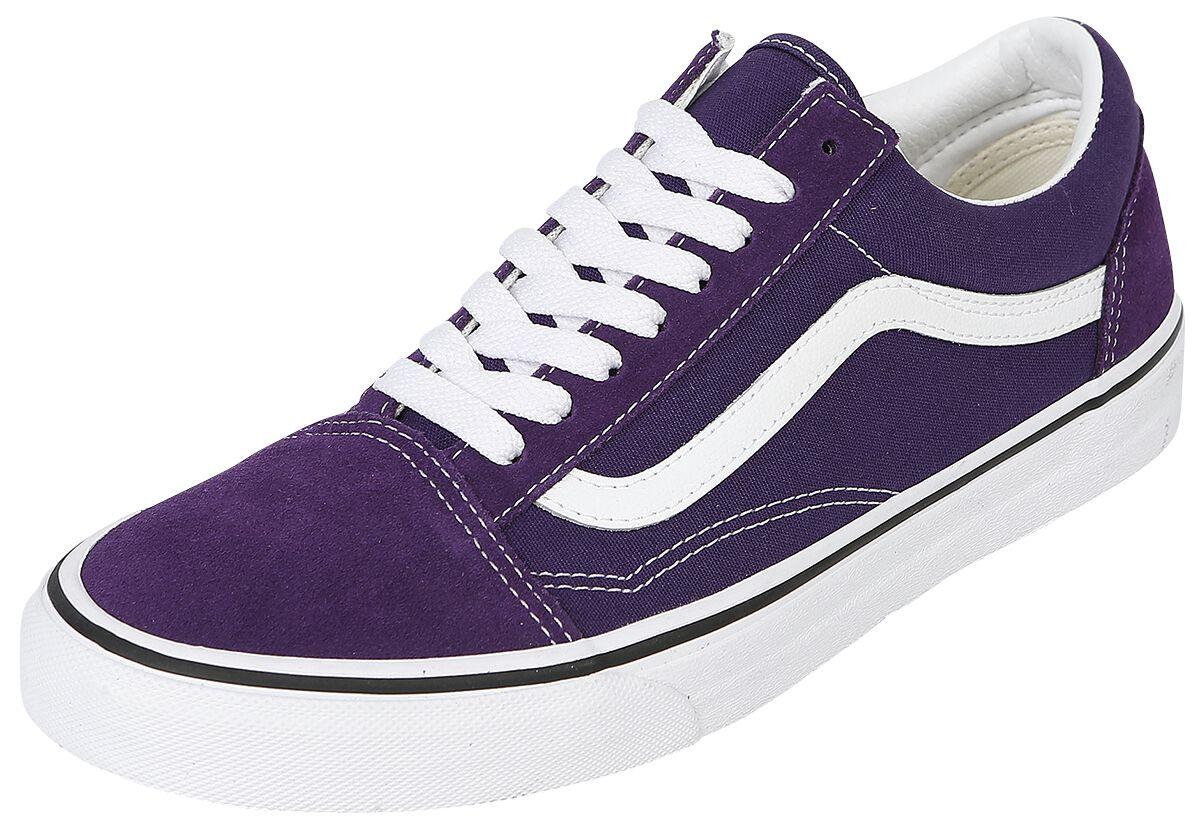 Sneakers für Frauen - Vans Old Skool Sneaker lila weiß  - Onlineshop EMP