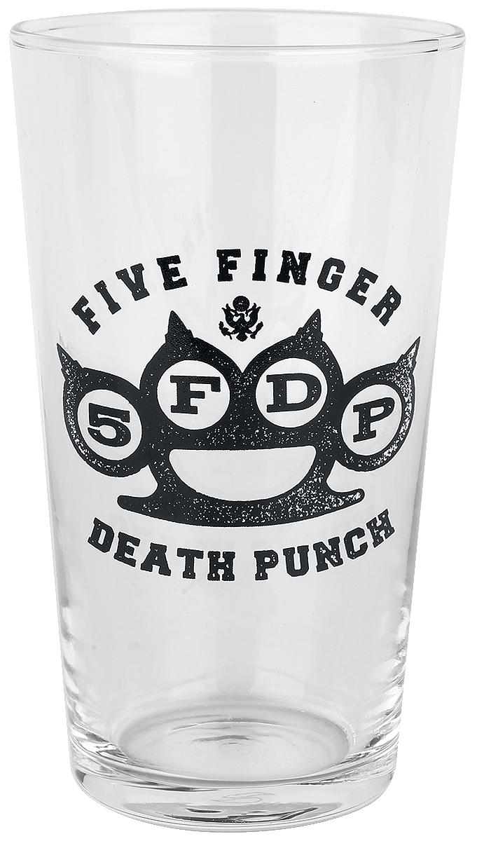 Five Finger Death Punch - Knuckle Logo - Pint-Glas - klar