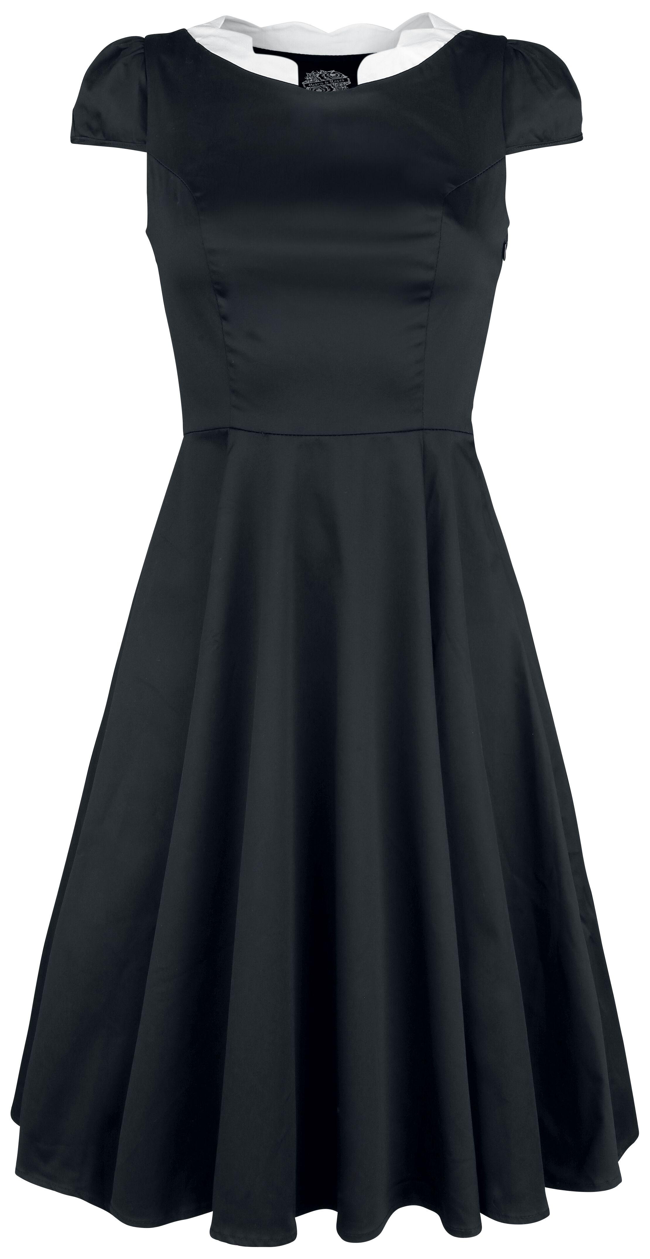 Kleider - H R London Priscilla Dress Mittellanges Kleid schwarz  - Onlineshop EMP