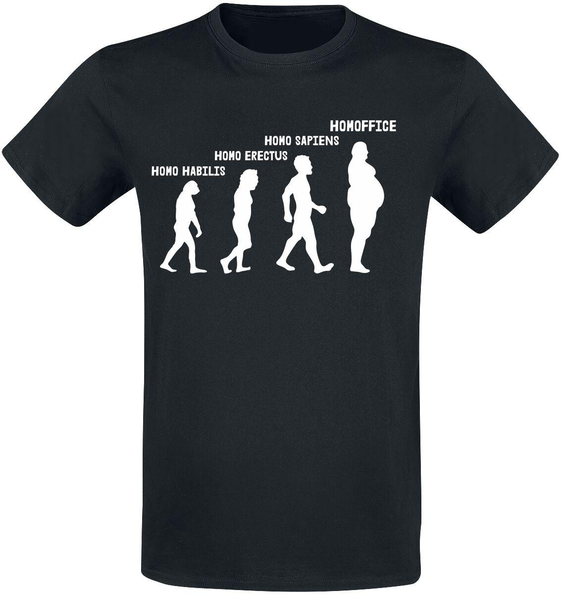 Homoffice T-Shirt schwarz POD - BY083 - 5373