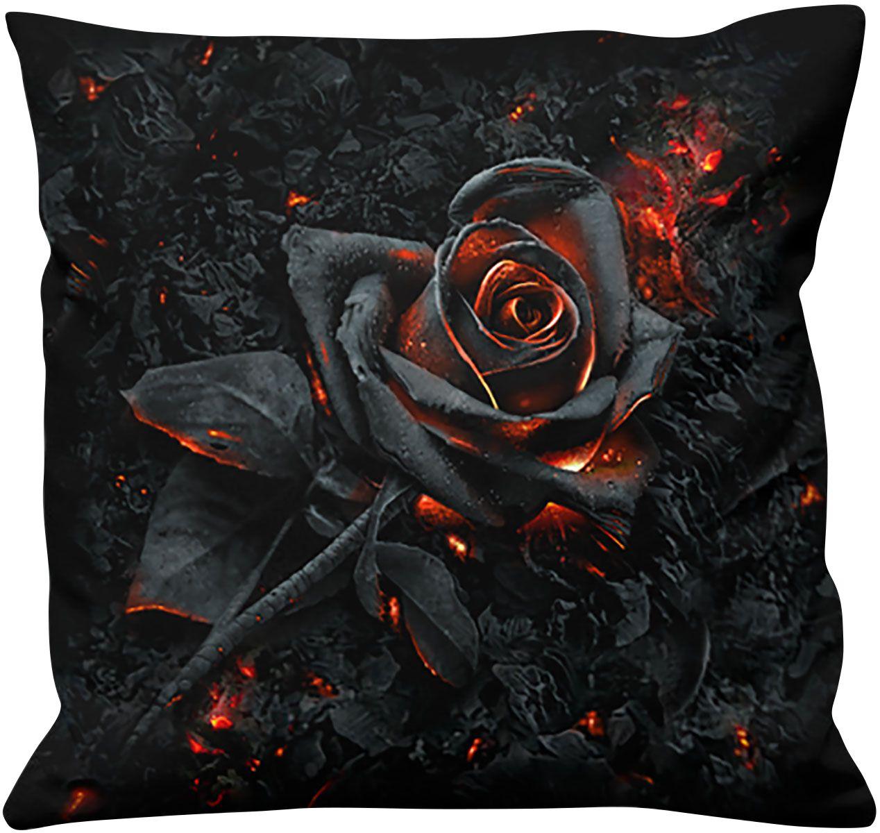 Spiral Burnt Rose  Kissen  schwarz