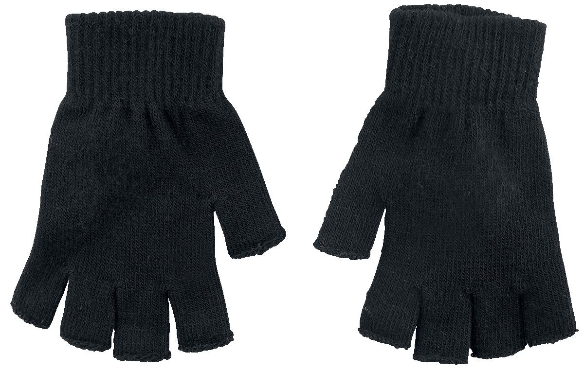 Image of Black Premium by EMP Standard Black Fingerlose-Handschuhe schwarz