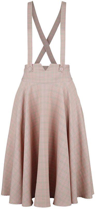 Helena Plaid Suspender Flare Skirt