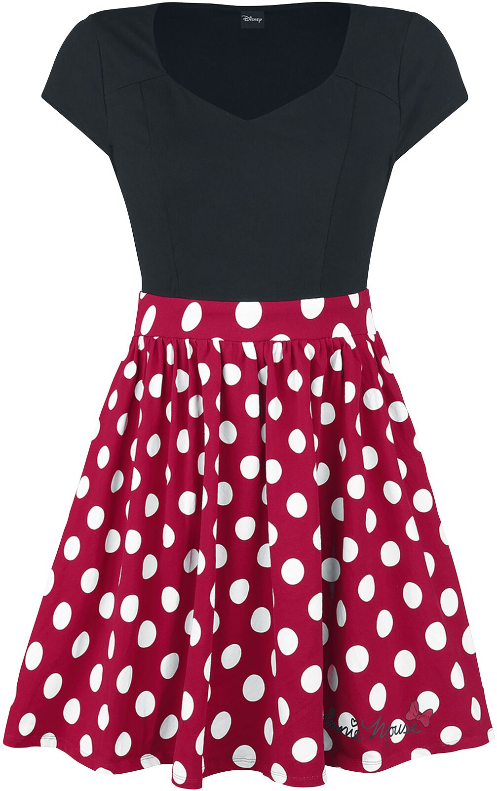 Minni Polka Dots | Micky & Minni Maus Kurzes Kleid | EMP