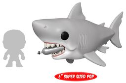Der weisse Hai Jaws - Great White Shark with diving Tank (Oversized) Vinyl Figure 759