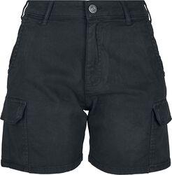 Ladies High Waist Cargo Shorts